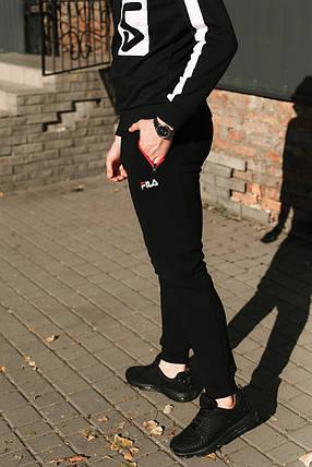Зимние штаны мужские Fila,синие(манжет ), фото 2