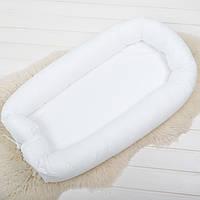Кокон гнездышко со сьемным чехлом ткань на выбор, бейбинест, кроватка для новорожденных, люлька, бортики, фото 1