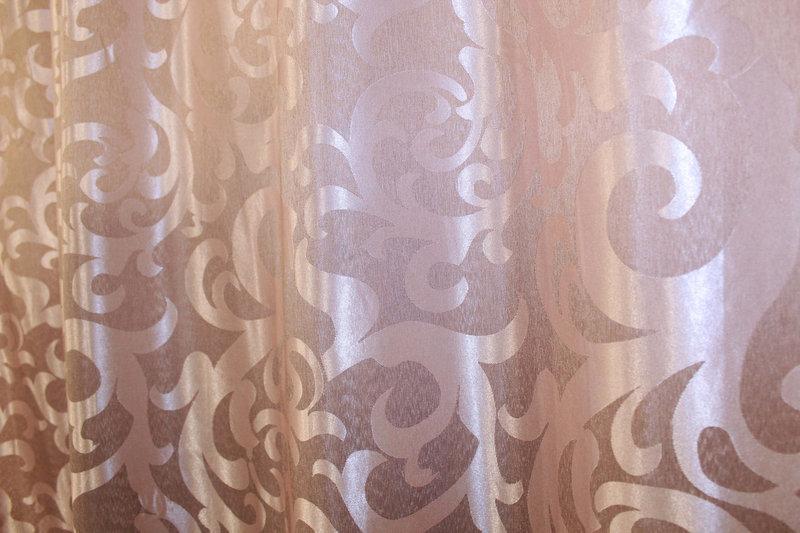 "Плотная ткань жаккард ""Вензель"". Высота 2,8м. Цвет пудра. 090ш"