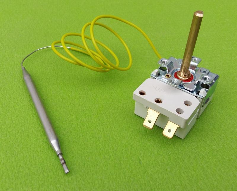 Термостат капиллярный METALFLEX KT-165/ T=7-80°C / 16А / 250V / T85 / Hст=40мм / L=70см (2 контакта)   Италия