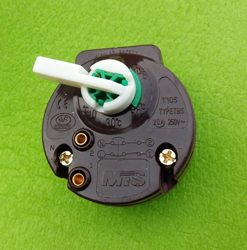 Терморегулятор механический MTS / type TBS / 20А / 250V с ФЛАЖКОМ (для ТЭНов) / L=270мм (коричневый)   Китай