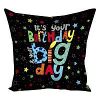 Подушка с принтом 30х30 см Birthday