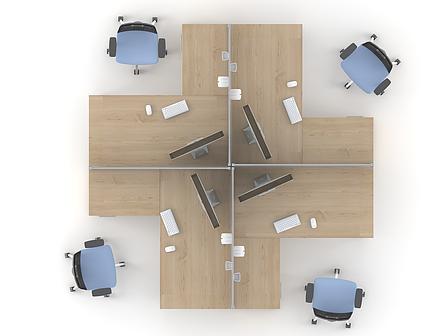 Комплект мебели для персонала серии Озон композиция №5 ТМ MConcept, фото 2
