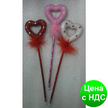"""Ручка-игрушка 214 """"Сердце"""" с присыпкой"""