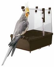 Купалка большая для попугаев,птиц, Ferplast L101 (коричневый, белый)