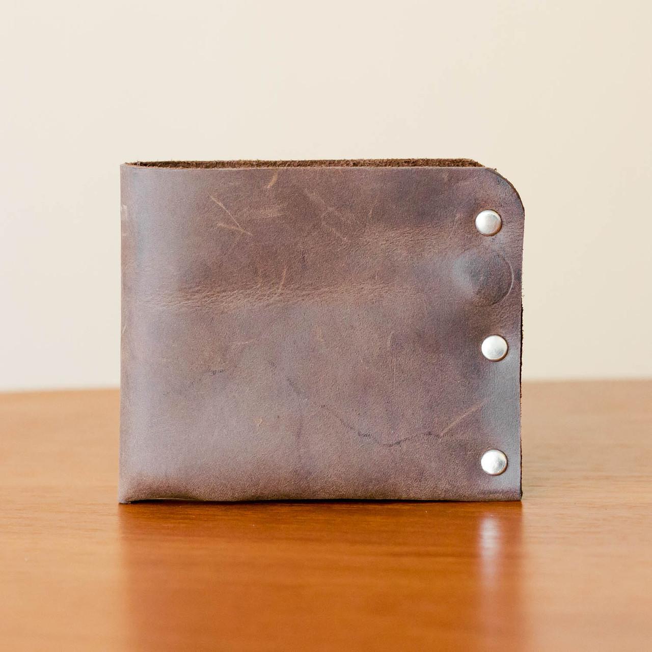 614c063511f9 Мужской кошелек коричневый из натуральной кожи ручной работы Revier для  денег
