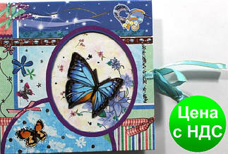 """Блокнот на замке (48К) 0948-01-02 """"Мишки/Бабочки"""" в подарочной упаковке"""