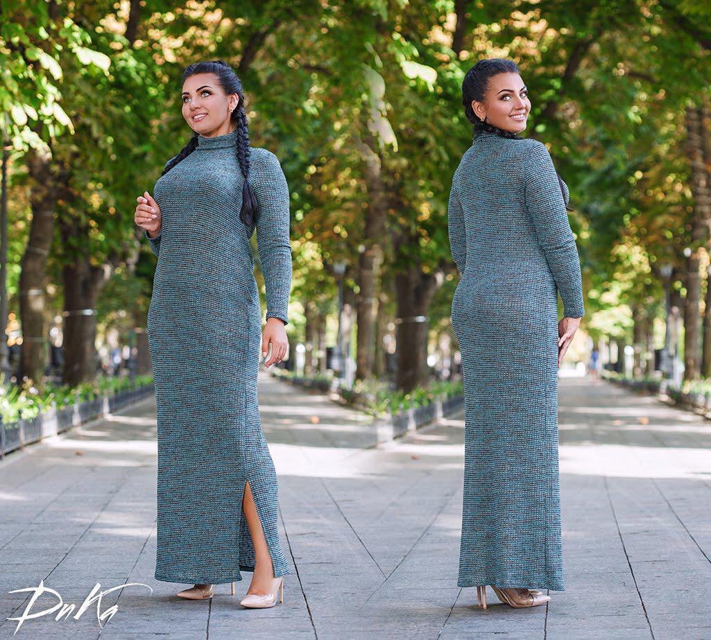 add3fd11ce7 Женское теплое длинное платье гольф большого размера 50-56  продажа ...