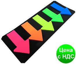 Стікери самоклеючі 4026 (5 шт./46*27 мм) смужки липкі пластикові кольорові
