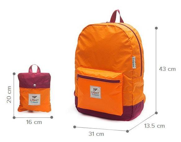 Размеры рюкзака
