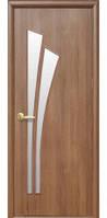 Дверное полотно Новый Стиль Модерн ЛИЛИЯ ПВХ золотая ольха (60,70,80,90) ПВХ De Luxe