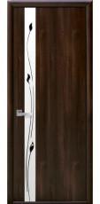 Дверное полотно Новый Стиль Квадра ЗЛАТА орех 3D+Р1 (60,70,80,90) Экошпон