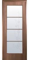 Дверное полотно Новый Стиль Квадра ВИКТОРИЯ ПВХ золотая ольха+Р4 (60,70,80,90) ПВХ De Luxe