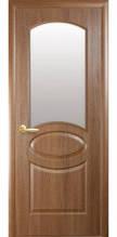 Дверное полотно Новый Стиль Фортис  ОВАЛ  со стекло сатин ПВХ De Luxe