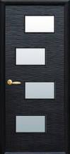 Дверное полотно Новый Стиль Сахара венге new 4S 60,70,80,90 см со стеклом