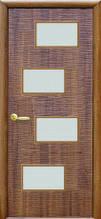Дверное полотно Новый Стиль Сахара золотая ольха 4S 60,70,80,90 см со стеклом