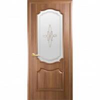 Дверное полотно Новый Стиль Рока 40см золотая ольха с рисунком Р1