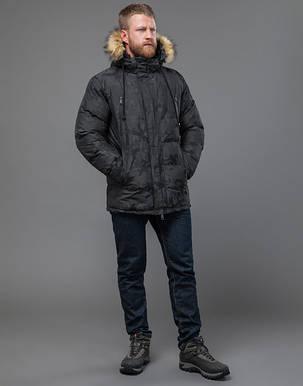 Tiger Force 71368 | Куртка мужская на зиму темно-серая, фото 2