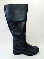 Женские кожаные зимние сапоги цвета антрацит ТМ Ross, фото 1