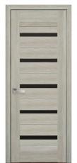 Дверное полотно Новый Стиль Лайт ЛИРА 60,70,80,90 дуб сицилия+стекло BLK Нано Флекс