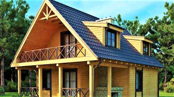 Деревянный дом из профилированного клееного бруса 8х11 м
