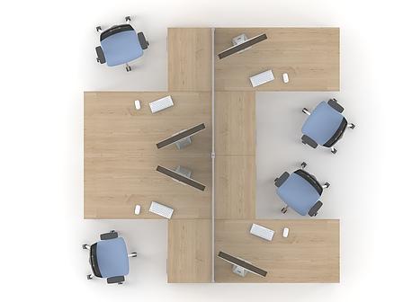 Комплект мебели для персонала серии Озон композиция №6 ТМ MConcept, фото 2