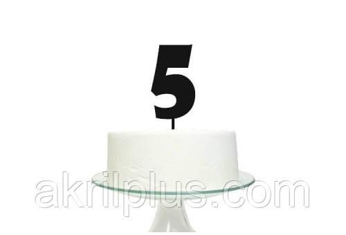 Топпер для торта цифра