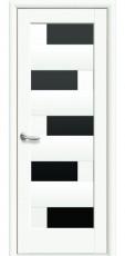 Дверное полотно Новый Стиль Ностра ПИАНА белый матовый BLK (60,70,80,90) ПВХ De Luxe