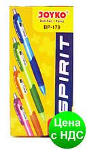Ручка шариковая автоматическая Joyko Spirit черная