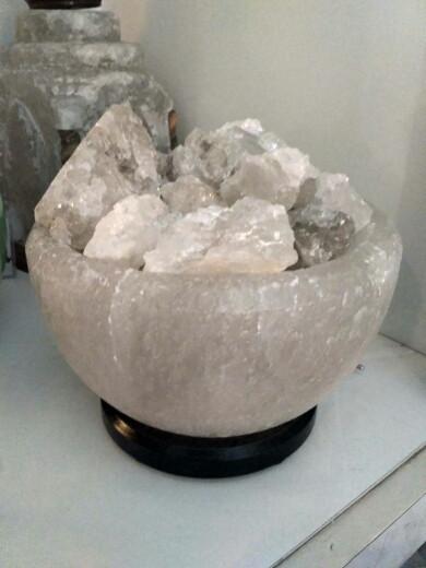 Соляной светильник Чаша огня 3-4 кг
