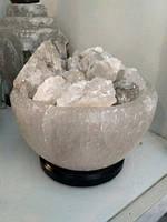 Соляной светильник Чаша огня 3-4 кг , фото 1