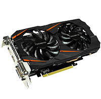 Видеокарта GeForce GTX1060 OC, Gigabyte, 6Gb DDR5, 192-bit, 2xDVI/HDMI/DP, 1797/8008 MHz