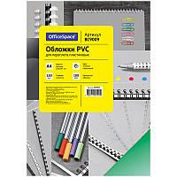 """Обложка А4 OfficeSpace """"PVC"""" 150мкм, прозрачный цветной пластик, 100л."""