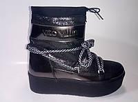 Женские кожаные зимние сноубутсы ТМ Vito Villini, фото 1