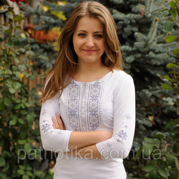 Женская футболка-вышиванка Кружево 2 | Жіноча футболка-вишиванка Мереживо 2