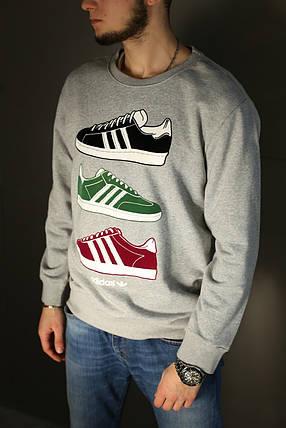 Кофта мужская Adidas,серая , фото 2