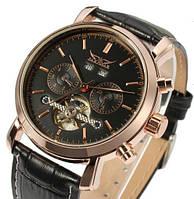 Мужские механические часы Jaragar Gold Classic. Стильные наручные часы с  автоподзаводом на ремешке d283d4d24a2