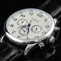 Мужские механические часы Jaragar White. Классические наручные часы белые