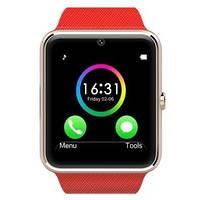 Умные часы GT08 Red с Bluetooth, камерой, сим-картой и сенсорным экраном. Смарт часы (smart watch) Uwatch