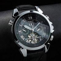 Мужские механические часы Jaragar Turboulion Silver. Классические наручные часы с автоподзаводом