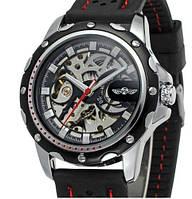 Мужские механические часы Winner Sport Skeleton. Стильные наручные часы скелетоны