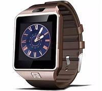 Умные часы DZ09 Gold с Sim-картой, Bluetooth, камерой и сенсорным экраном. Смарт часы (smart watch) Uwatch
