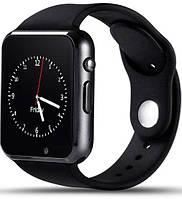 Умные часы A1 Turbo Black Sim-картой, Bluetooth, камерой и сенсорным экраном. Смарт часы (smart watch) Uwatch