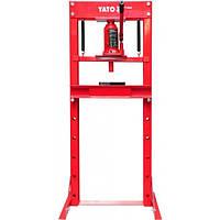 Пресс гидравлический рамный, нагрузка - 12 т, YATO YT-55580