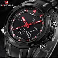 Мужские наручные часы Naviforce 9050 Aero. Спортивные кварцевые часы с  двойным временем 00a5432a0c7f8