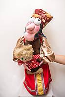 Каркасная интерьерная кукла Vikamade Баба-Яга с Кузей. , фото 1