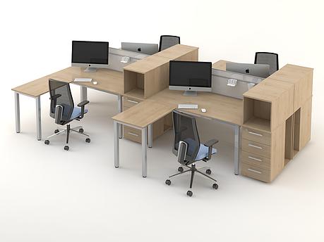 Комплект мебели для персонала серии Озон композиция №7 ТМ MConcept, фото 2
