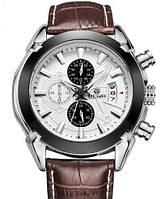 Мужские наручные часы Megir 2020 Montre. Классические кварцевые часы с хронографом и датой