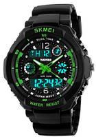 Мужские наручные часы Skmei 0931 Green. Противоударные и водонепроницаемые спортивные часы