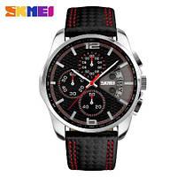 Мужские наручные часы Skmei 9106 Spider. Классические кварцевые часы с хронографом